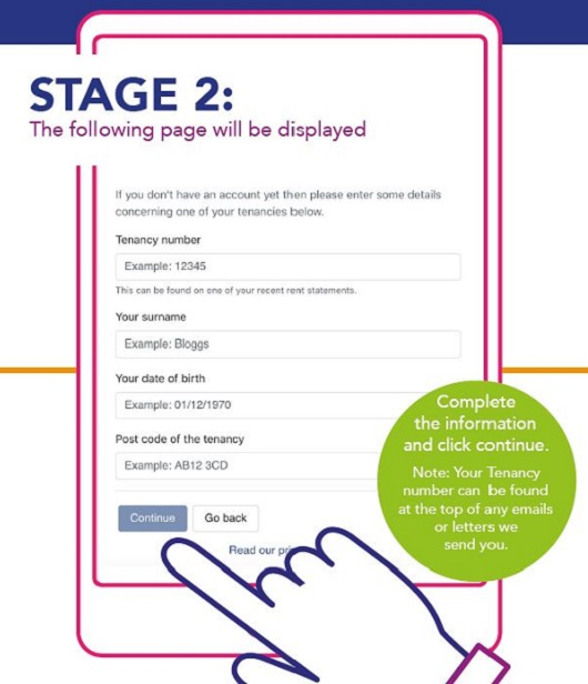 create a connect account stage 2